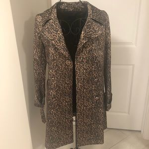 Talbots leopard print trench coat. Never worn.